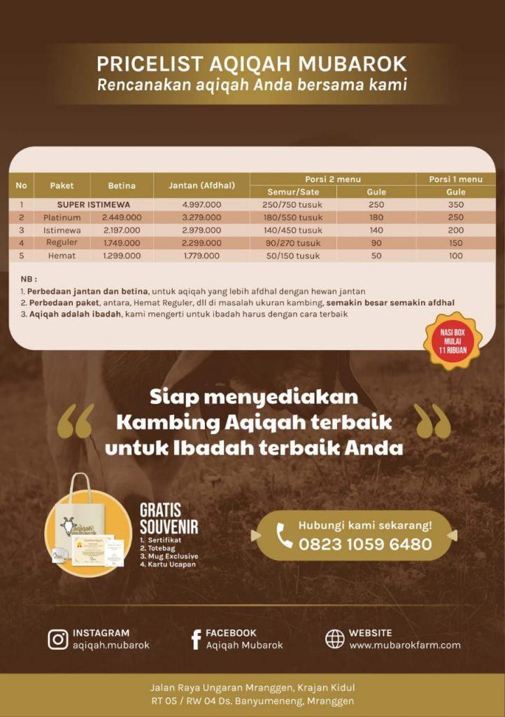 Harga PAket Aqiqah Semarang